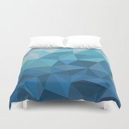 blue geometric Duvet Cover