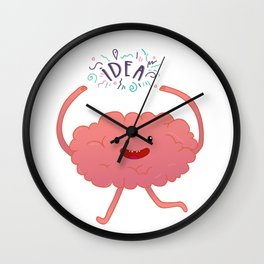 Happy brain time Wall Clock