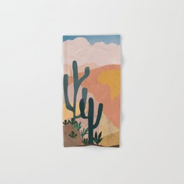 Utah Desert Abstract Collage Hand & Bath Towel