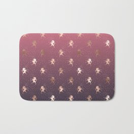 Modern Home Ombre Gold Unicorn Pattern Bath Mat