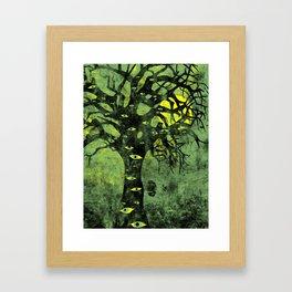 the Vision Tree (green) Framed Art Print