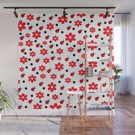 Ladybugs and Daisies Wall Mural