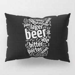 Beer Glass Word Pillow Sham