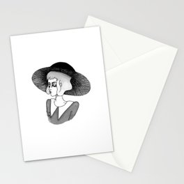 spooky girl Stationery Cards