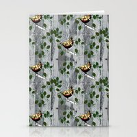 tits Stationery Cards featuring Crested Tits by LindaWinegum