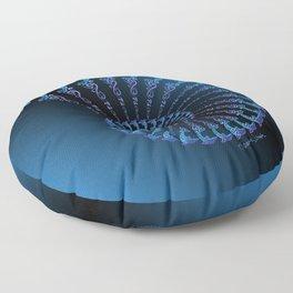 Tribal Dolphin Spiral Shell Floor Pillow
