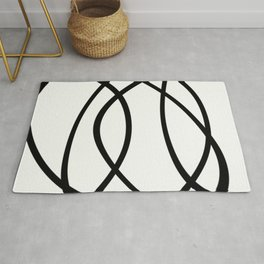 Community - Black and white abstract Rug