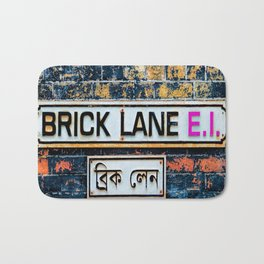 London Brick Lane Sign Bath Mat