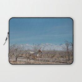 white horse Bolivia Laptop Sleeve