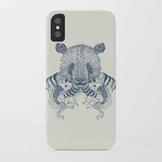 Panda Tattoo iPhone Case