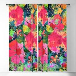 colorful floral composition Blackout Curtain