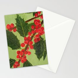 Jolly Holly Berries Stationery Cards
