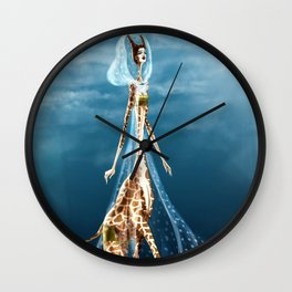 Giselle, the queen of the catwalk Wall Clock