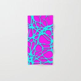 Hot Web pink, turquoise Hand & Bath Towel