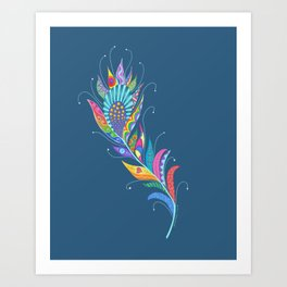 One Feather ... One World Art Print