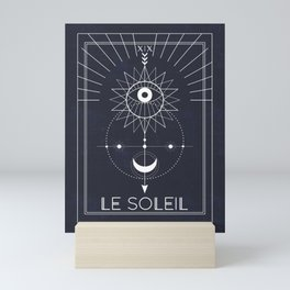 Le Soleil or The Sun Tarot Mini Art Print