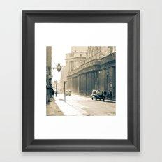Old street that vanishes Framed Art Print