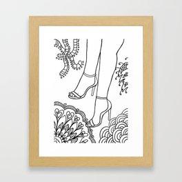foot fetish Framed Art Print