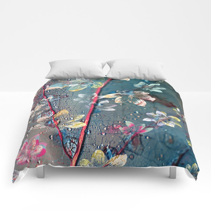 Floral abstract 34 Comforters