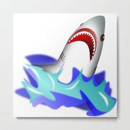 Shark attack wave danger dangerous Metal Print