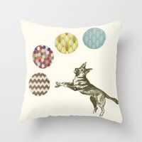 games Throw Pillows featuring Ball Games by Cassia Beck