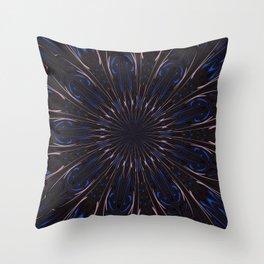 Shafts Of Light Kaleidoscope Abstract  Throw Pillow