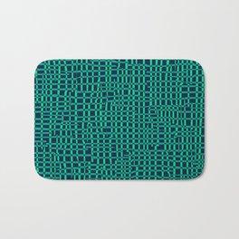 Turquoise Crosshatch Bath Mat