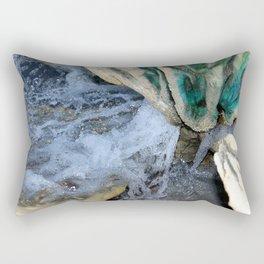 Water Fountain Closeup Rectangular Pillow