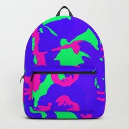 neon camo ape Backpack