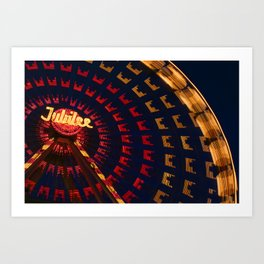 Ferris Wheel Abstract Art Print