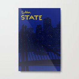 Golden State Poster Metal Print