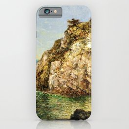 Boat Moored at Fort Wetherill, Conanicut Island, Jamestown, Rhode Island by James Gale Tyler iPhone Case