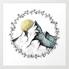 Color Mountain Art Print