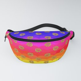 Rainbow and yellow flowers Fanny Pack