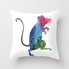 Space Rat Throw Pillow