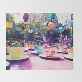Teacups Throw Blanket