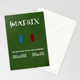 Matrix - minimal movie poster Stationery Cards