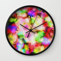 blush Wall Clocks featuring Blush by Glanoramay