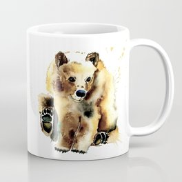 Baby Brown Bear Watercolor Painting by Lisa Whitehouse Coffee Mug
