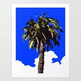 Palm Tree in Lisbon Art Print
