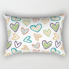 Autunm Hearts Rectangular Pillow
