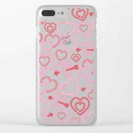 Neon Love Clear iPhone Case