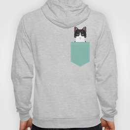 Quinn - Cute black and white cat tuxedo cat gifts for cat lady gift ideas cell phone case with cat Hoody
