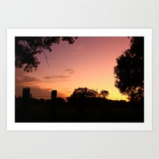 country sunset Art Print