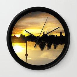 Yellow Skies - Upside Up VII Wall Clock