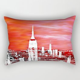 Abstract Red In The City Design Rectangular Pillow