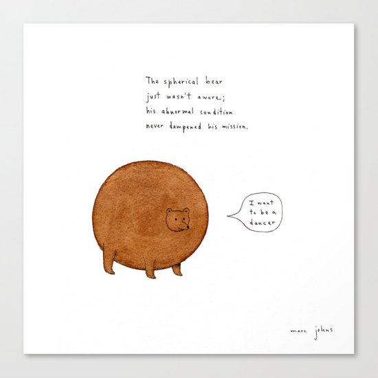 [Square version] the spherical bear Canvas Print