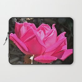 Red Double Knockout Rose Digital Oil Painting Laptop Sleeve