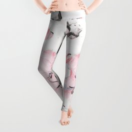 Pink and grey marble Leggings