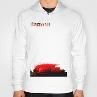 cincinnati Hoodies featuring Cities Of America: Cincinnati  by Brandon sawyer